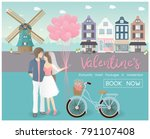 valentine's day concept for... | Shutterstock .eps vector #791107408