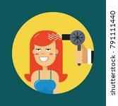 vector flat illustration of the ... | Shutterstock .eps vector #791111440