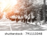 blur are explained and teachers ... | Shutterstock . vector #791113348