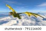 3d cg rendering of a dragon | Shutterstock . vector #791116600