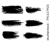 grunge ink brush strokes.... | Shutterstock .eps vector #791117923