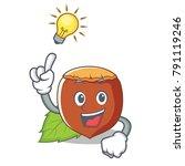 have an idea hazelnut mascot...   Shutterstock .eps vector #791119246
