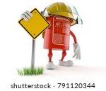fire extinguisher character... | Shutterstock . vector #791120344