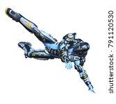 3d cg rendering of a robot | Shutterstock . vector #791120530