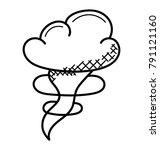 a tornado  cyclone  hurricane... | Shutterstock .eps vector #791121160