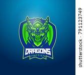 wyvern dragon lizard creature...   Shutterstock .eps vector #791123749