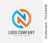 letter n logo vector  icon n... | Shutterstock .eps vector #791126458