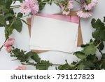 workspace. wedding invitation...   Shutterstock . vector #791127823