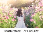 happy asian little child girl... | Shutterstock . vector #791128129
