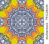 seamless pattern with beautiful ... | Shutterstock .eps vector #791128144
