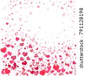 flying hearts swirl and gifts.... | Shutterstock .eps vector #791128198