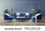luxury modern interior of... | Shutterstock . vector #791129119