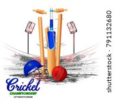 cricket   sports   | Shutterstock .eps vector #791132680