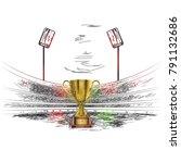 cricket   sports     Shutterstock .eps vector #791132686