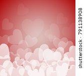 love red hearts | Shutterstock .eps vector #791138908