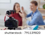 video lesson. cheerful...   Shutterstock . vector #791139820