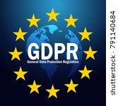 gdpr general data protection... | Shutterstock .eps vector #791140684