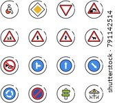 line vector icon set   disabled ... | Shutterstock .eps vector #791142514