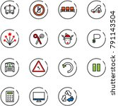 line vector icon set   airport... | Shutterstock .eps vector #791143504