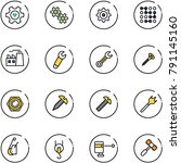 line vector icon set   heart...   Shutterstock .eps vector #791145160