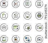 line vector icon set   passport ... | Shutterstock .eps vector #791145274