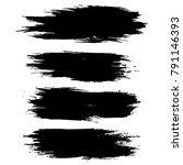 grunge ink brush strokes.... | Shutterstock .eps vector #791146393