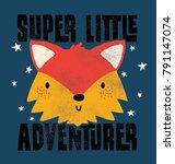 cute fox face drawn as vector | Shutterstock .eps vector #791147074