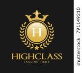 letter h logo   classic... | Shutterstock .eps vector #791149210