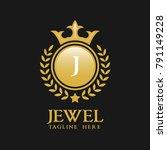 letter j logo   classic... | Shutterstock .eps vector #791149228