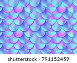 holographic mermaid tail card... | Shutterstock .eps vector #791152459