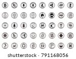 major crypto currency  bitcoin... | Shutterstock .eps vector #791168056