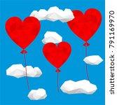 valentine's day card design...   Shutterstock .eps vector #791169970