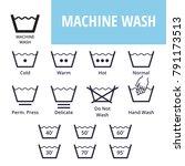 machine wash. textile care...   Shutterstock .eps vector #791173513