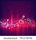 colorful music background   Shutterstock . vector #791178796