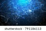 blue fantasy abstract...   Shutterstock . vector #791186113