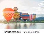 chiang rai thailand   balloon...   Shutterstock . vector #791186548