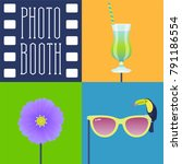 colorful photo booth props icon ... | Shutterstock .eps vector #791186554