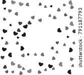 hearts confetti  bright... | Shutterstock .eps vector #791187793