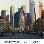 business center 'moscow city'... | Shutterstock . vector #791189020
