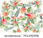 vintage retro purple spring... | Shutterstock .eps vector #791190598