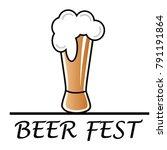 beer fest  glass of beer with... | Shutterstock .eps vector #791191864