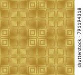 gold metallic regular seamless...   Shutterstock . vector #791194318