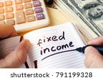 Small photo of Fixed income written in a note.
