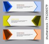 horizontal banner background...   Shutterstock .eps vector #791200579