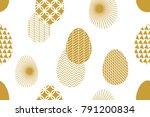 happy easter card. festive... | Shutterstock .eps vector #791200834