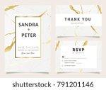wedding invitation set with... | Shutterstock .eps vector #791201146