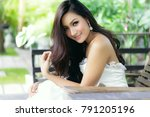 portrait happy beautiful woman  ... | Shutterstock . vector #791205196