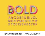 vector of modern colorful font... | Shutterstock .eps vector #791205244