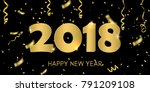 creative design of the new year'... | Shutterstock . vector #791209108