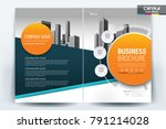 business brochure background... | Shutterstock .eps vector #791214028